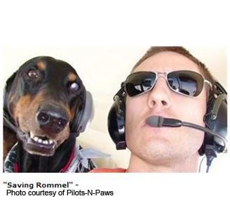 Rommel y su amigo el piloto Patrick