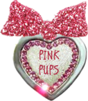 This is the official Pink Pups Badge