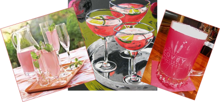 These are drinks being served at the twitter #PinkPJPawty