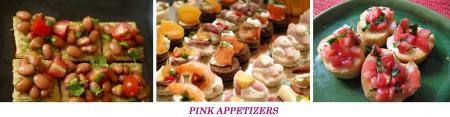 Pink Appetizers for our End of Year Pink Pups Pawty